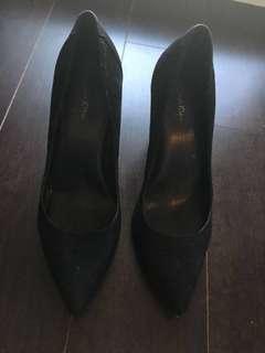 Calvin Klein suede heels, size 6.5