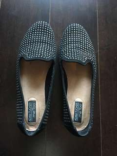 Studded flats, size 7, worn once
