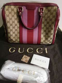 Gucci Boston Vintage Web Original Gg Medium Canvas