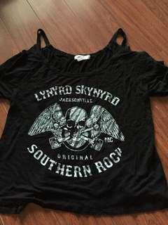 Lynyrd Skynyrd off the shoulder shirt