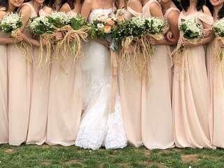 Cream color bridesmaid dress/maxi