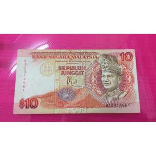 RM 10 old notes