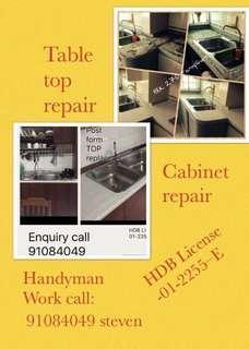 Table top / cabinet repair / Handyman work