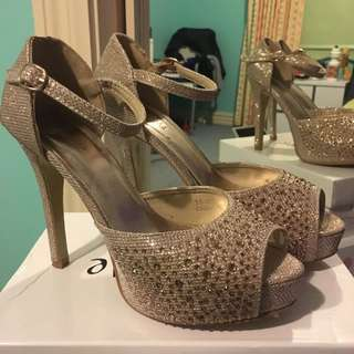 Champagne Gold Heels