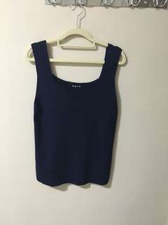 BNWOT NAIN Navy Wide Straps Top