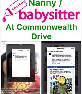 Nanny / Babysitter Available at Commonwealth Drive