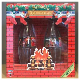 Coca-Cola 1997 Christmas Set - 2 Bottles - with Presentation Box