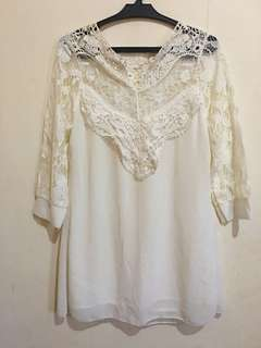 Pre loved white blouse