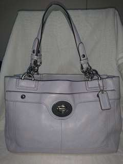 Coach Periwinkle Leather Penelope Carry-all Tote Bag