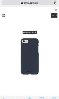 Navy silicon iPhone 7 Plus phone case