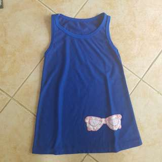 Baby Girls Dress 18m pambahay casual blue sleeveless 24m 2t 1y