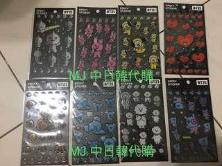🚚 現貨 BT21 x monopoly 水晶 貼紙