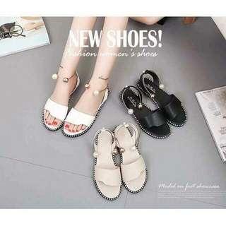 Restock!!!!  Korean sandals 💰440  ☑️size:35.36.37.38.39  ☑️color:black.white.cream *ls
