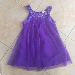Periwinkle Dress 2Y halter purple sleeveless ootd baby fashion violet with stones sunday event birthday party formal casual attire