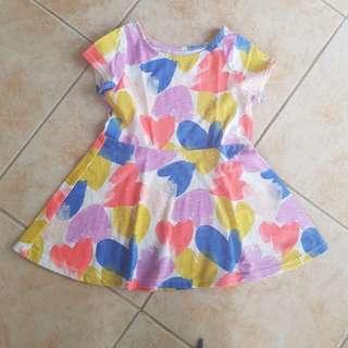 Cat&Jack Baby Dress 18m 12-24m Summer floral hearts fashion ootd cool presko comfy casual attire