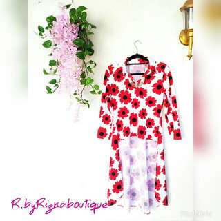 🚫SALE🚫 Tunik Red Wedges Pinguin
