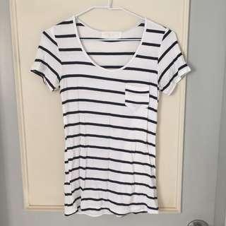 二手 黑白條紋t恤