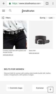 Stradivarius belt