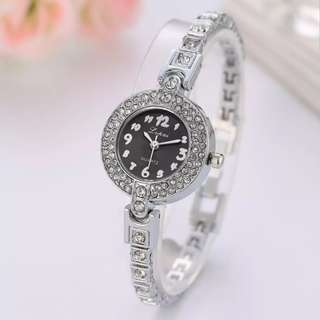 Girl Fashion Contracted Mirror Plate Alloy Bracelet Watch