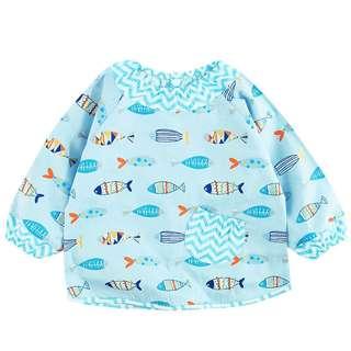 Instock - blue cat bib, baby infant toddler girl children sweet kid happy abcdefghjkmno