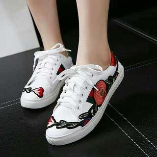 Gucc1 Ace Floral Sneaker