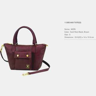 Porter Mori Two-way Bag in Wine Red