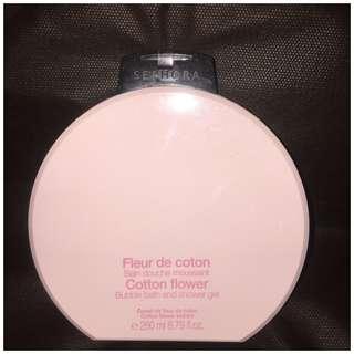 Sephora Cotton Flower Bubble Bath Shower Gel