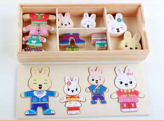 Baby wooden puzzle wooden hand grasping toys puzzle