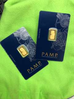 PAMP Gold Bars (999 Gold) + Zodiac Gold Coins (999 Gold) ❤️❤️