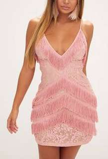 Pink Tassel Mini Dress