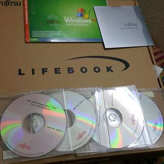 microsoft windows xp home edition plus 5 fujitsu cd