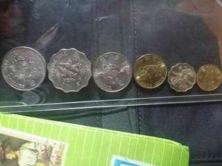 1997特別版五元兩元一元五毫兩毫一毫