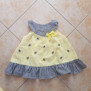 Baby Gingham Dress 6-12m Halter bee costume ootd with panty shorts