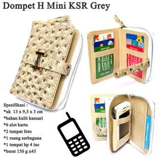 Dompet  Organaizer kulit Hp H KSR Mini grey