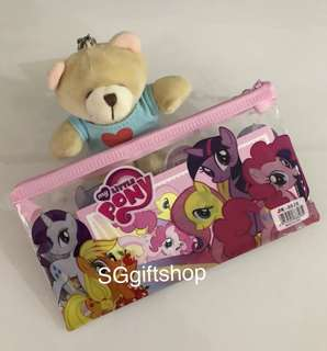 Pouch with stationary set (unicorn/ pony) - children birthday goodies gift, goodie favors, goody bag