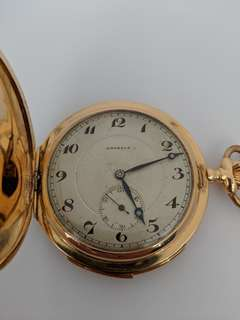 Gold Pocket Watch Minute Repeater