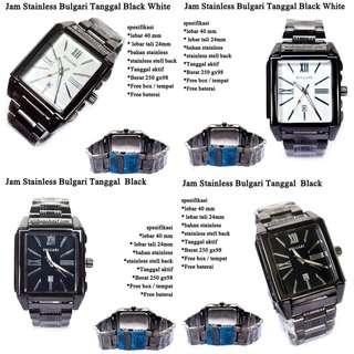 grosir jam tangan Bulgari Stainless Tanggal Super