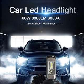 60W 8000LM LED Car Headlight Bulb H4 H11 H8 H9 9005 HB3 9006 HB4