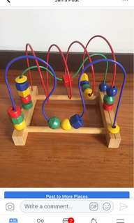 Preloved wooden toy (sold)