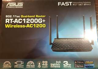 Asus Router RT-AC1200G+ Dual-Band Wireless-AC1200
