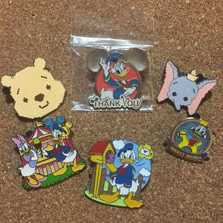 迪士尼 襟章 徽章 Disney pin Disneyland pins donald dumbo pooh