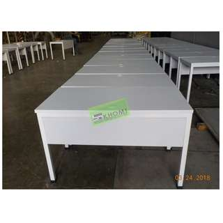CUSTOMIZE OFFICE TABLE W MODESTY 120Wx60Dx75Hcm