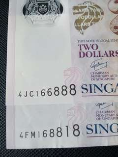 Two $2 notes