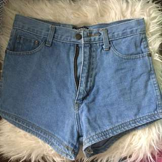 Soft denim Highwaisted shorts