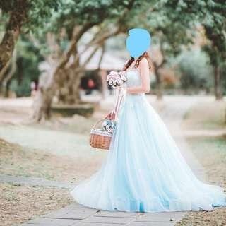 ♥♥♥高質仙氣粉藍迎賓晚裝♥♥♥ (連婚紗袋) #mayflashsale