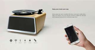 黑膠一體成型藍芽喇叭 HYM Officials Seed All-in-One Vinyl Turntable Record Player