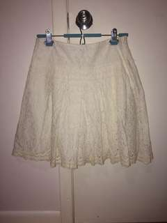 Made in France lace eyelet skirt