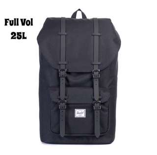 [INSTOCK] HERSCHEL SUPPLY LITTLE AMERICA FULL VOLUME BACKPACK (BLACK)