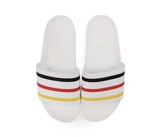 US 9 Palace X Adidas Adilette White