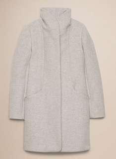 Aritzia Wilfred Cocoon Coat - Heather White S